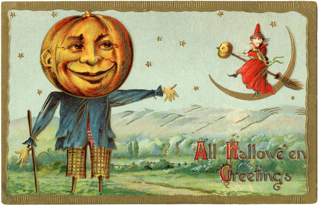 pumpkin head scarecrow halloween image