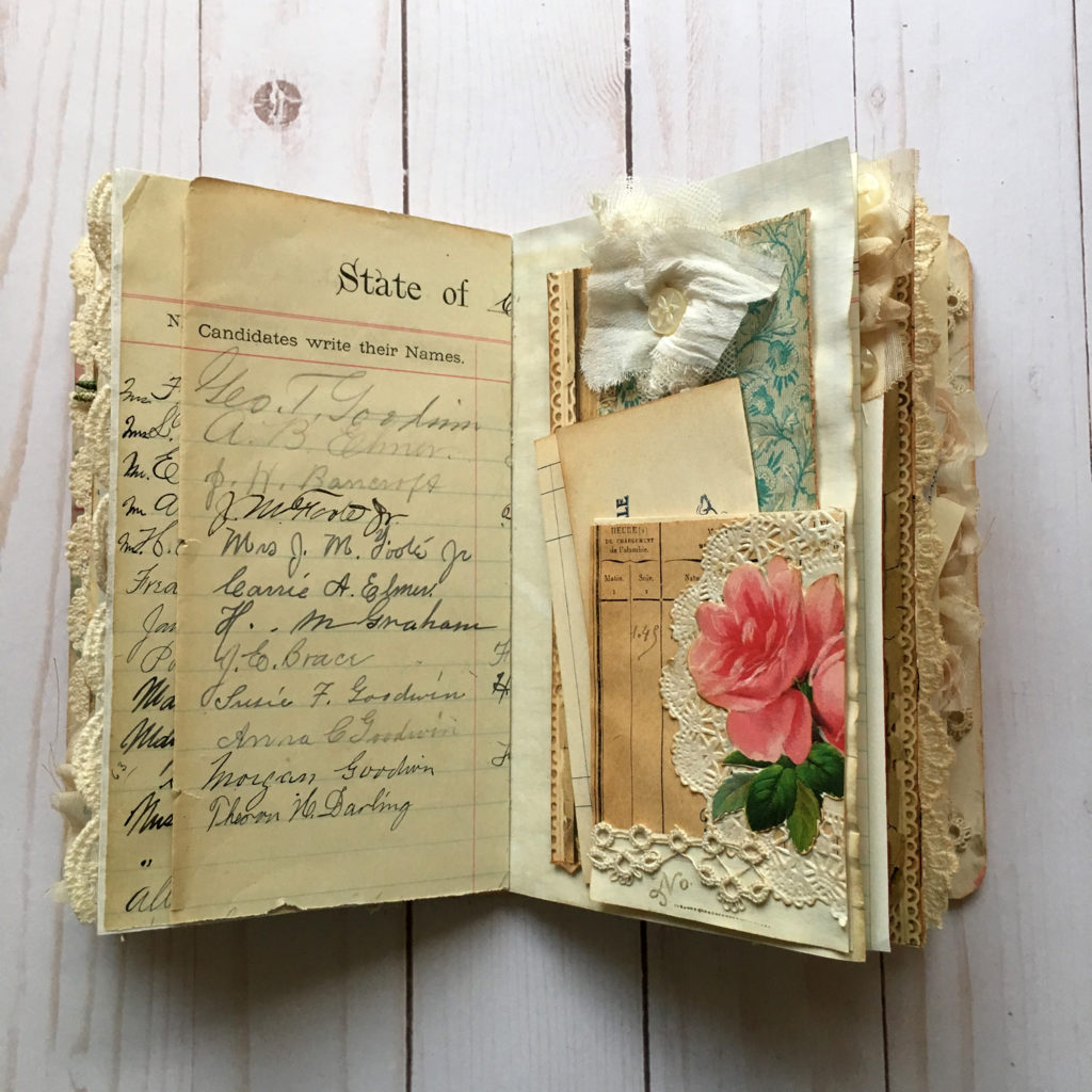 Junk Journal with Roses