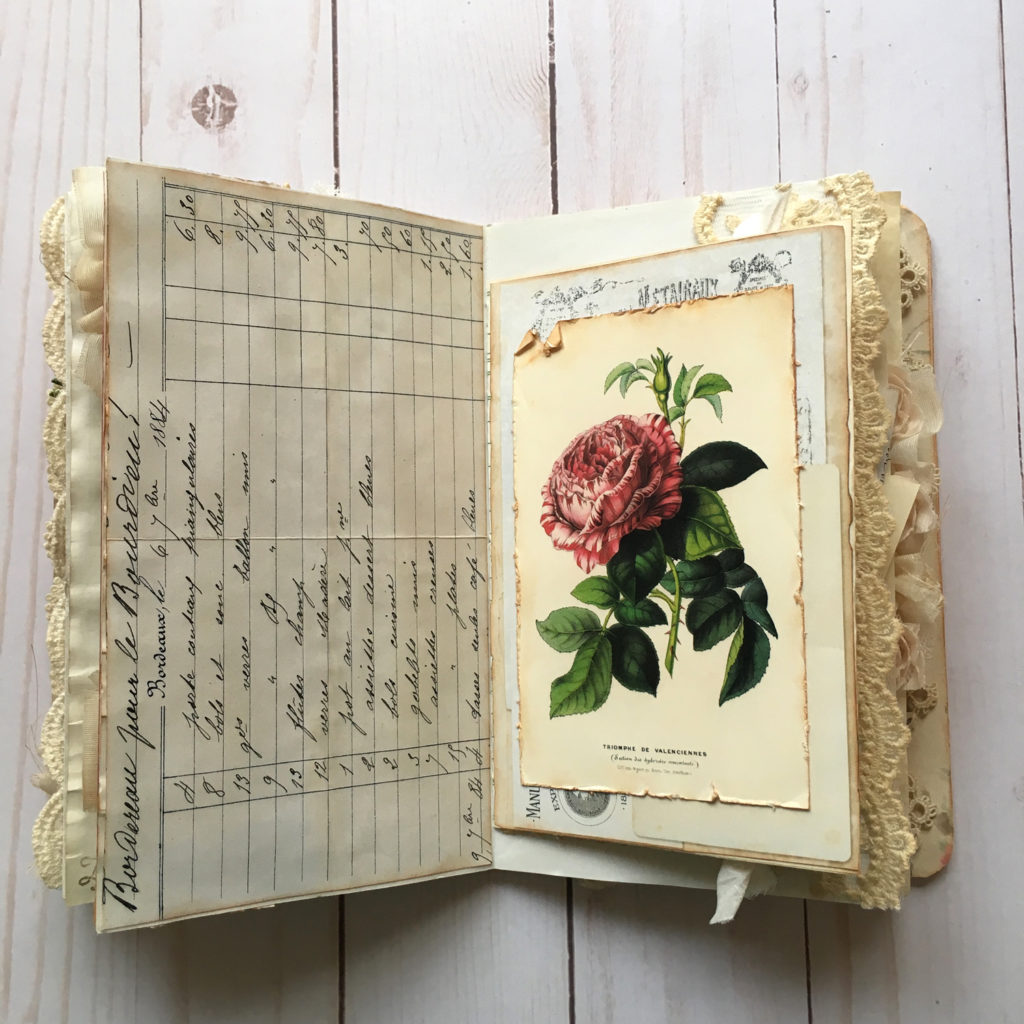 Junk Journal with Rose