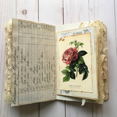 Junk Journal Rose