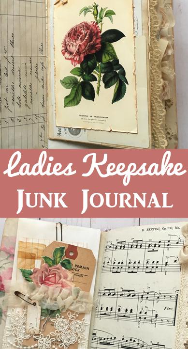 Ladies Keepsake Junk Journal Pinable