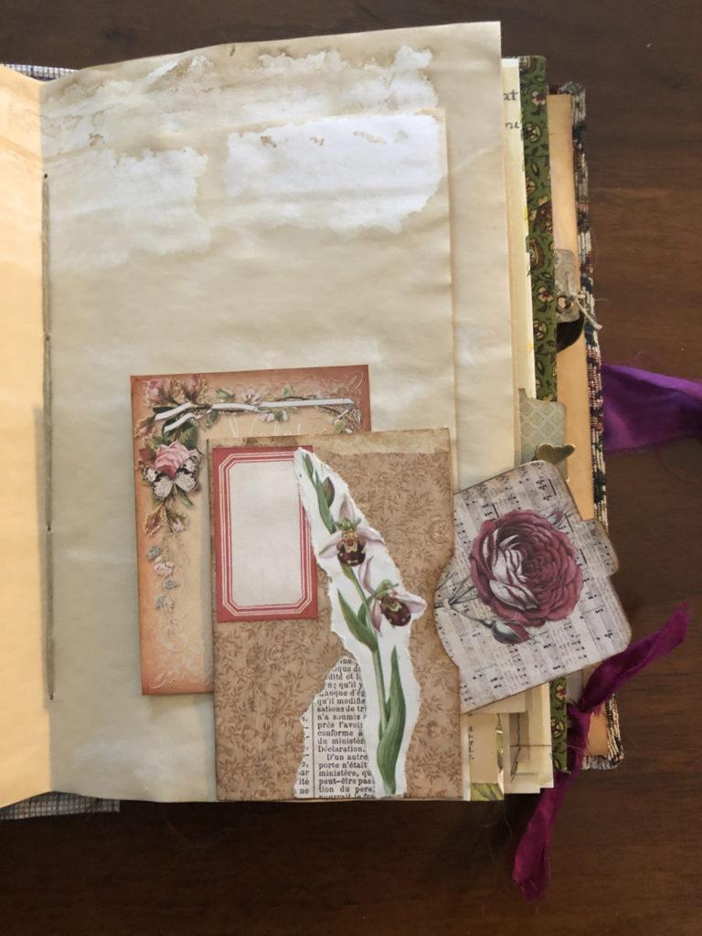Ephemera Art Journal Page