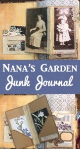 Nana's Garden Junk Journal Pinterest