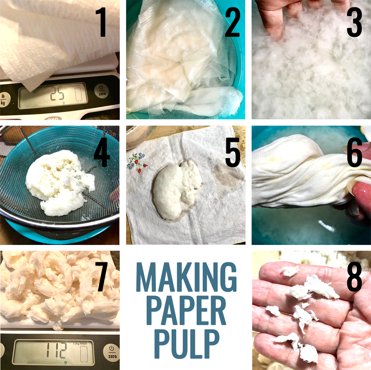 Making Paper Pulp Steps