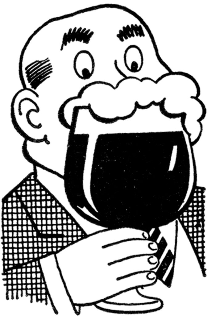 retro man beer clipart
