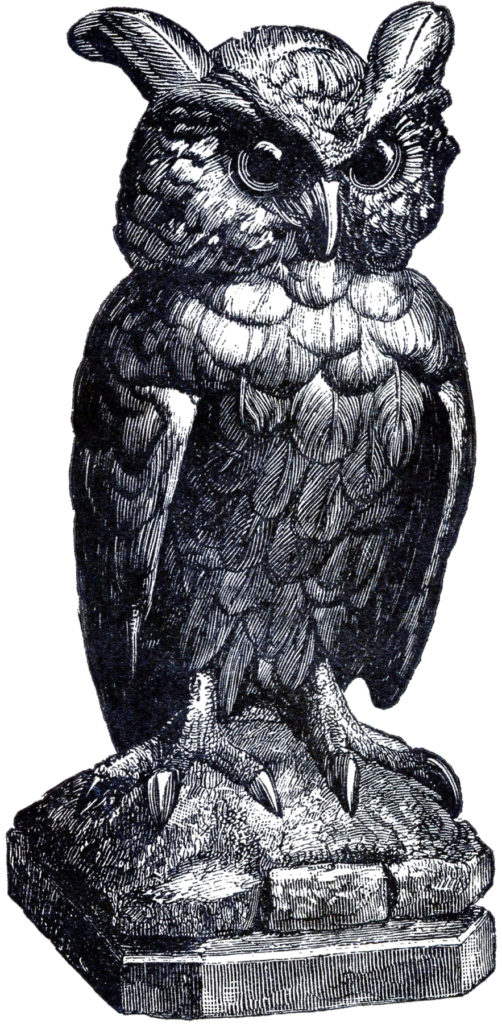 sppoky owl statue image