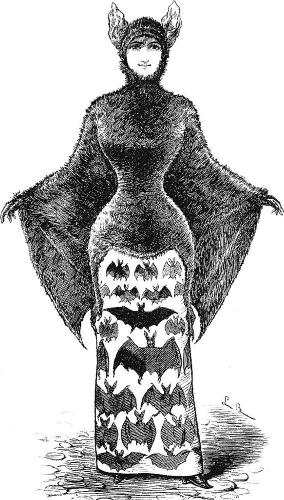 victorian bat woman costume image