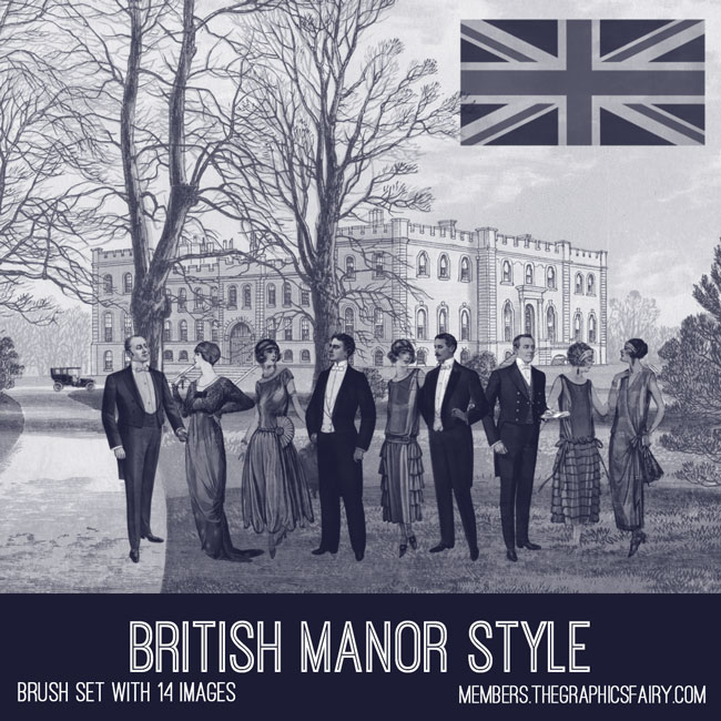 british manor style brush set