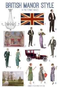 british manor style digital image bundle
