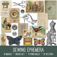 vintage sewing ephemera Bundle