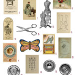 vintage sewing ephemera digital image bundle