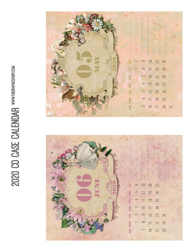 May June 2020 Calendar Graphics Fairy