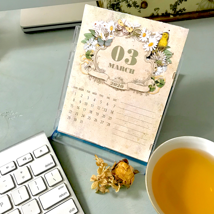 2020 CD Calendar on Desk