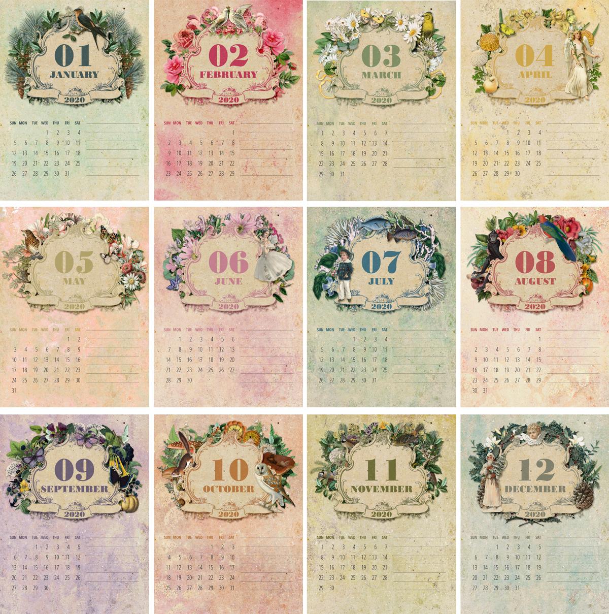 2020 CD Calendar Composite