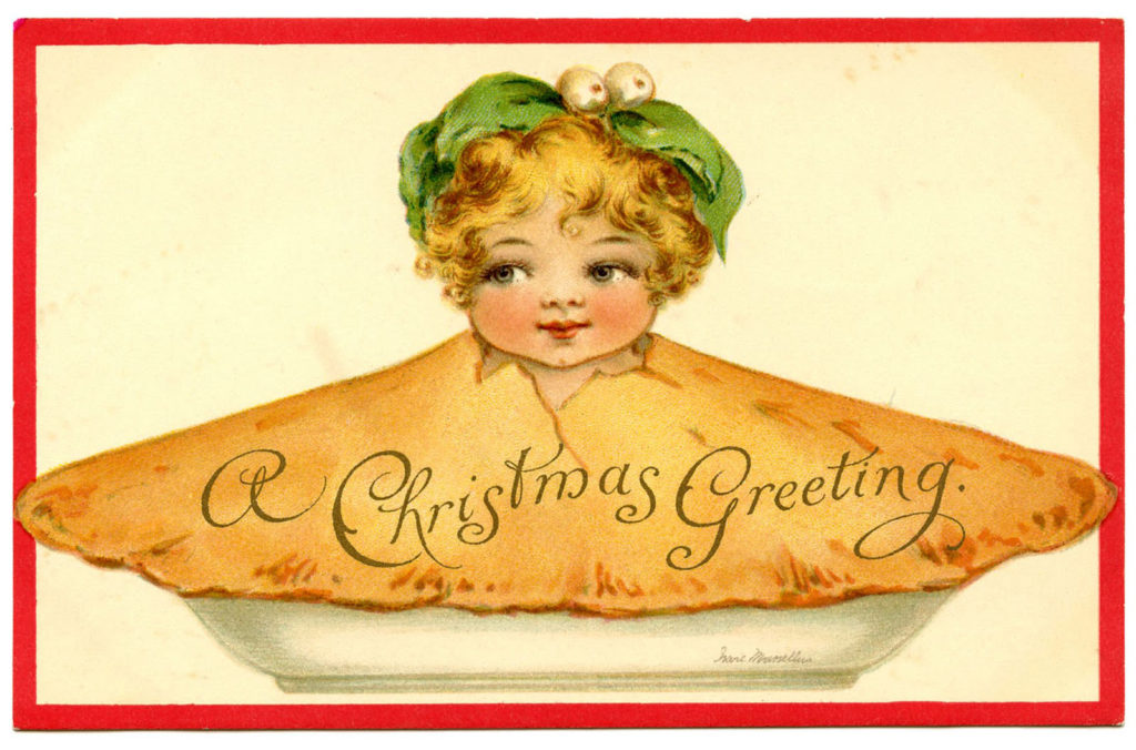 Christmas Girl Pie Image