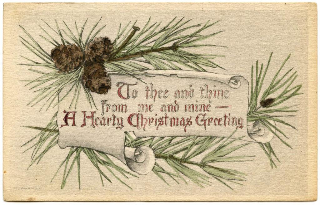 christmas pine greeting image
