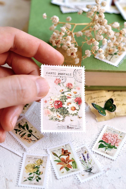 DIY Faux Vintage Postage Stamps