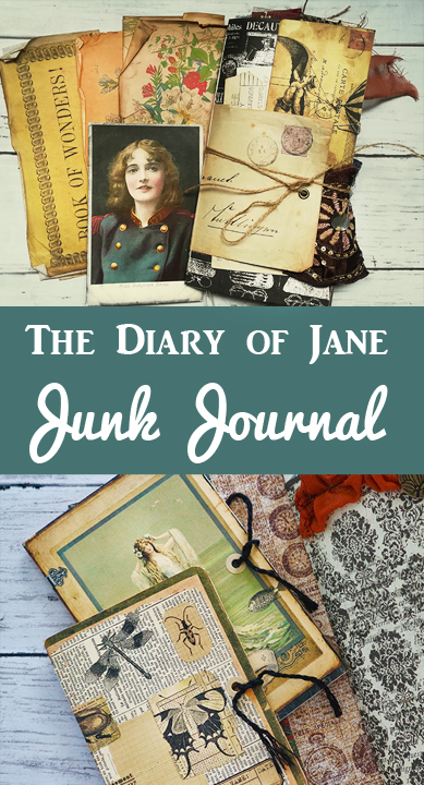 The Diary of Jane Junk Journal Pin