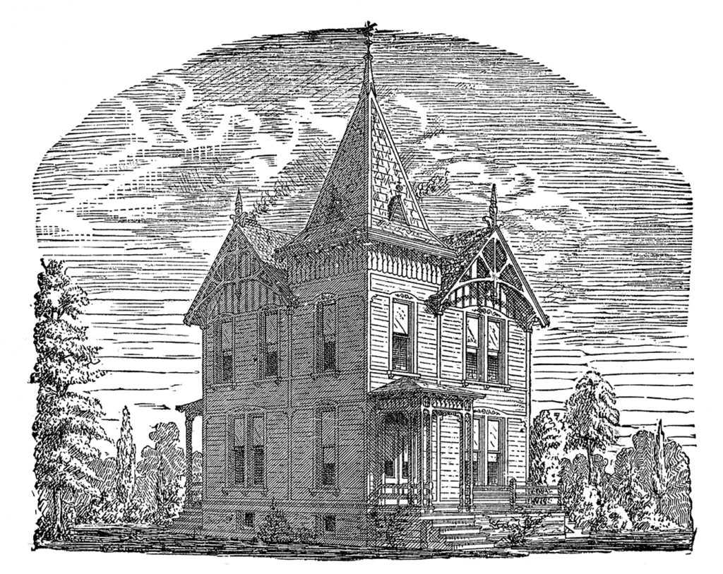 Haunted Victorian House Image