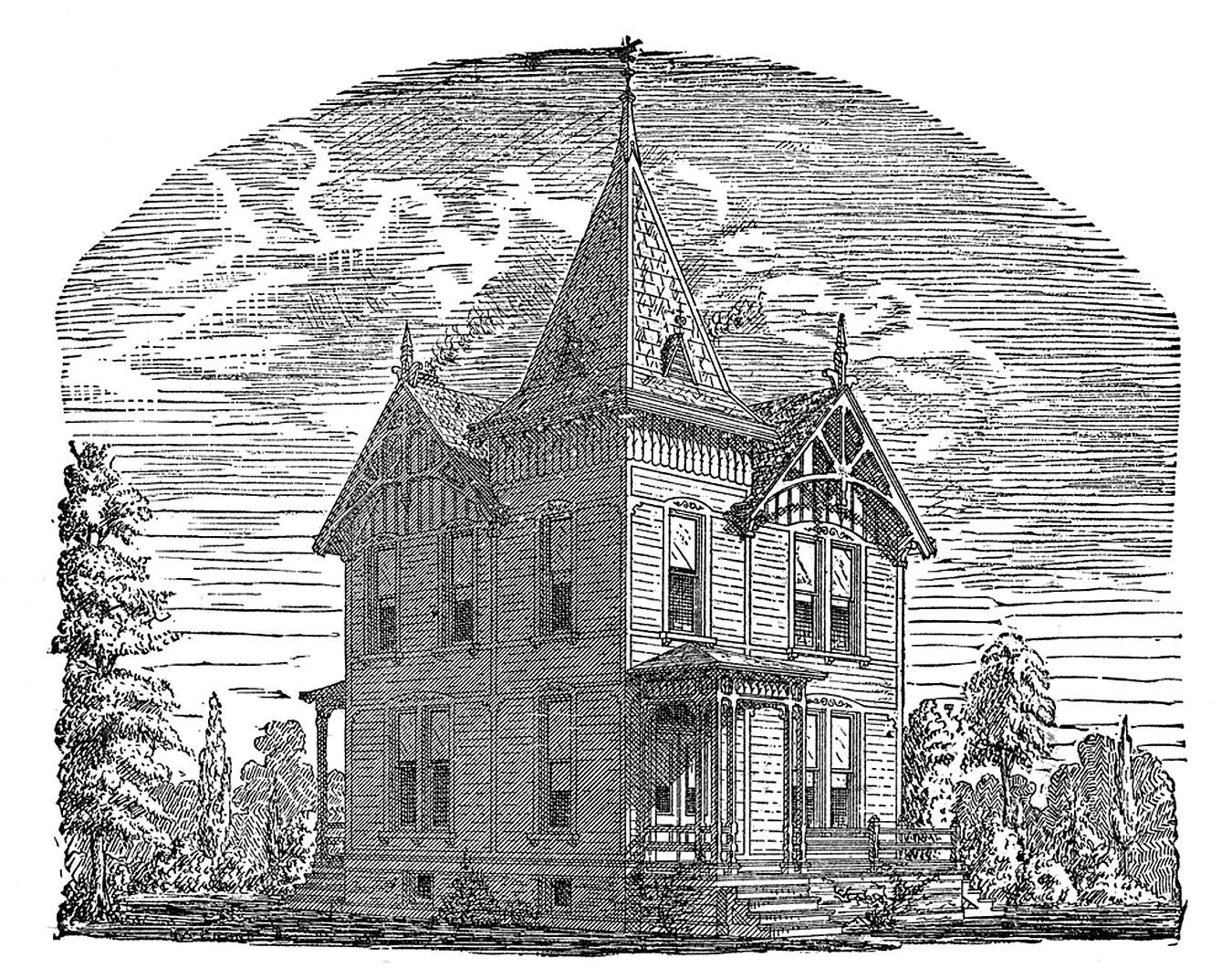 9 Haunted Houses & Furnishings Clipart - Halloween-ish ...