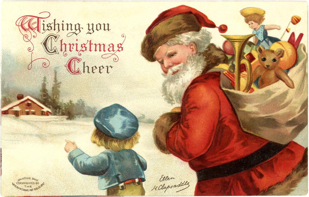 Jolly Vintage Santa Boy Image