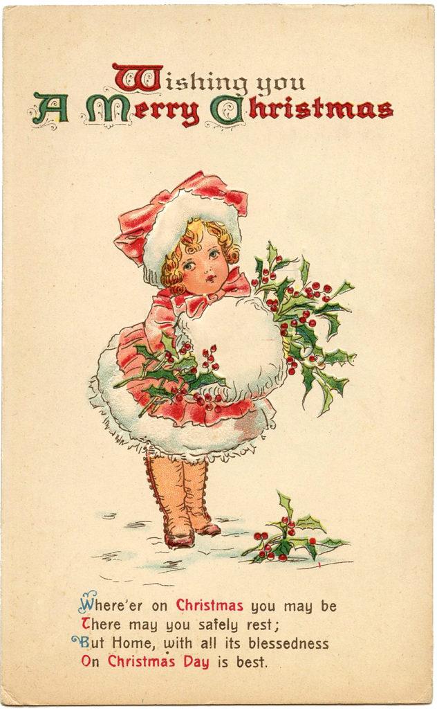 Merry Christmas Girl Image
