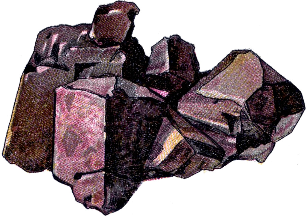 Purple Rock Crystals Image