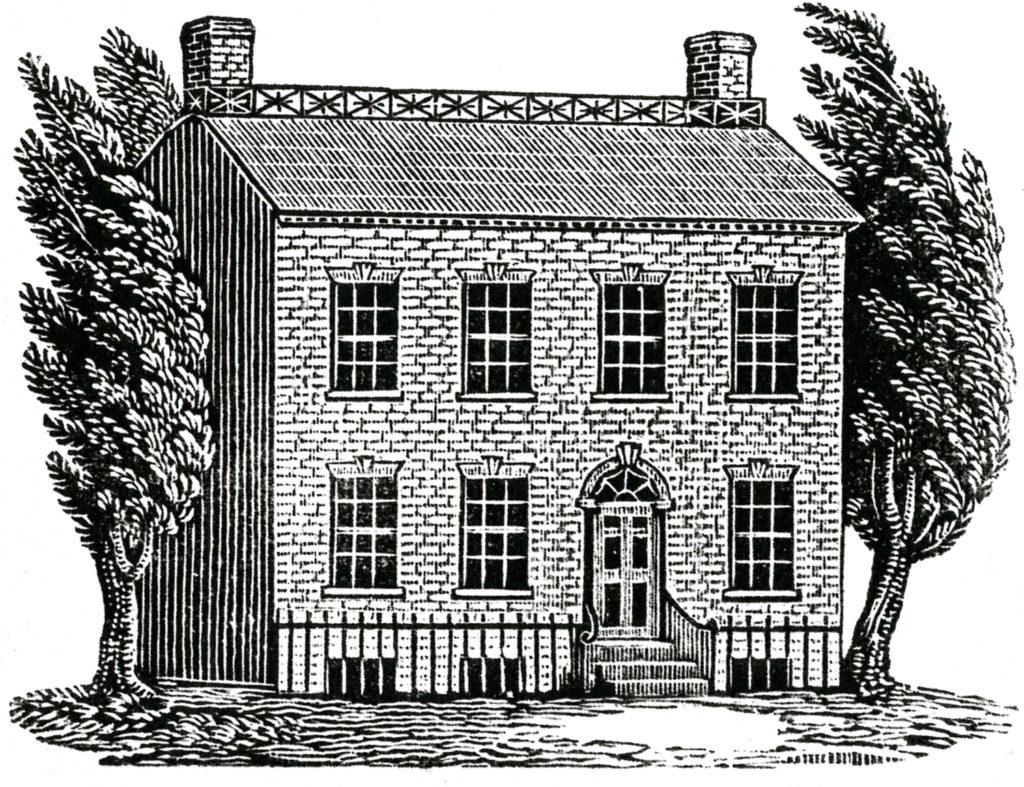 Spooky Vintage House Image