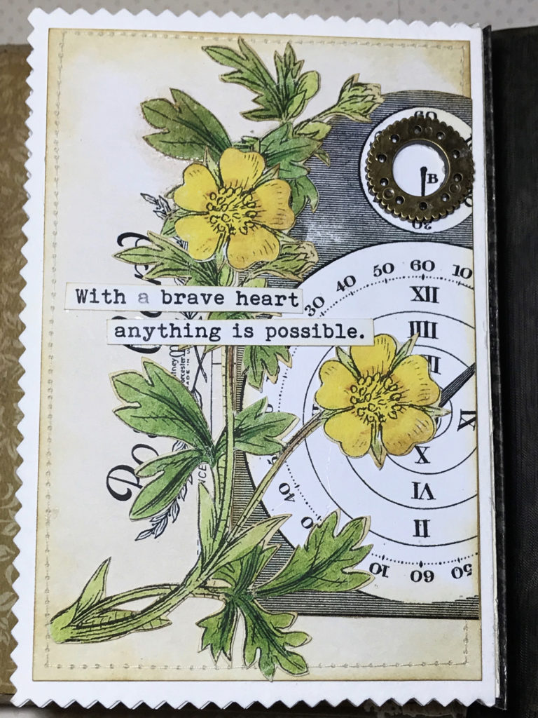 Floral Junk Journal Page