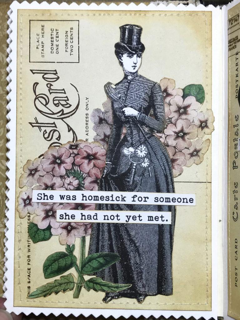 Steampunk Lady Art Journal