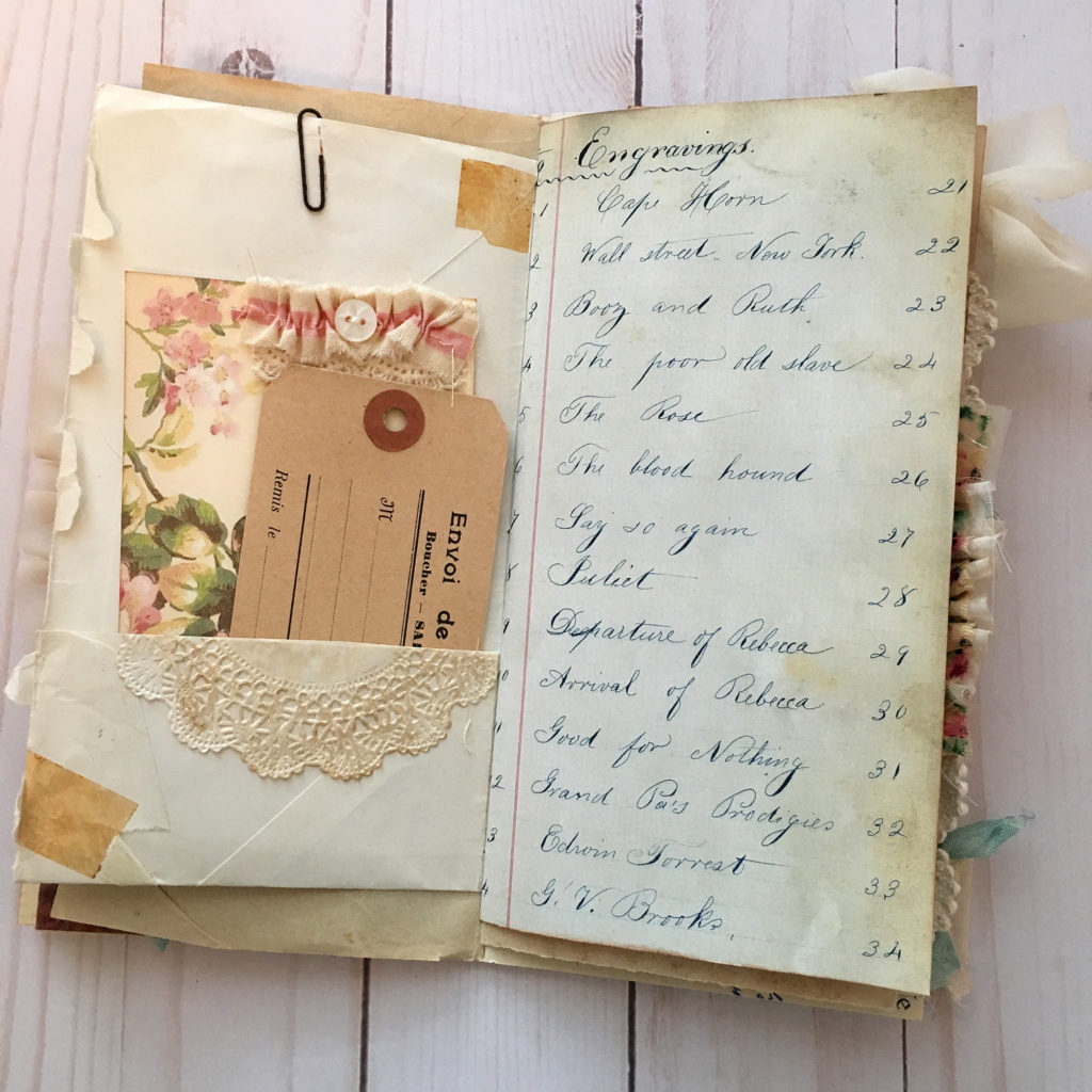 Vintage Style Ephemera Journal