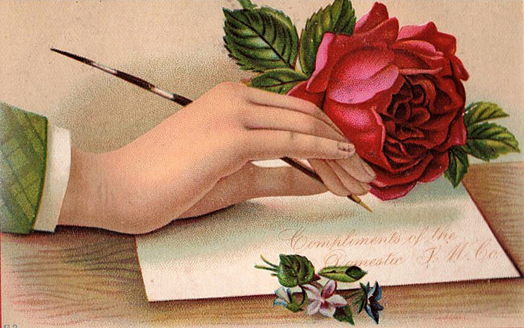 Victorian Hand Quill Pen Letter Image
