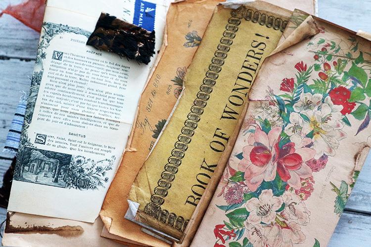 Curled Paper Edges Junk Journal Technique