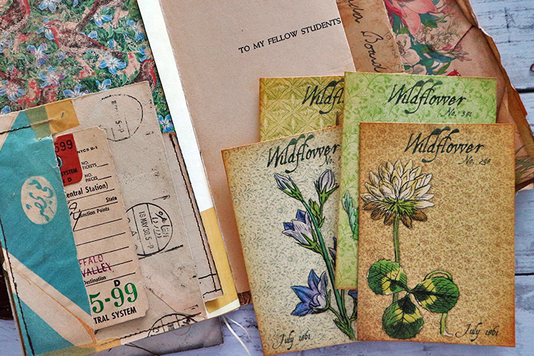 Wildflower Printables Collages Background
