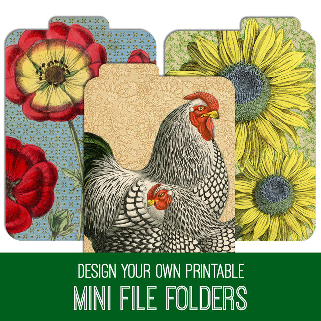PSE Tutorial Design Your Own Printable Mini File Folders