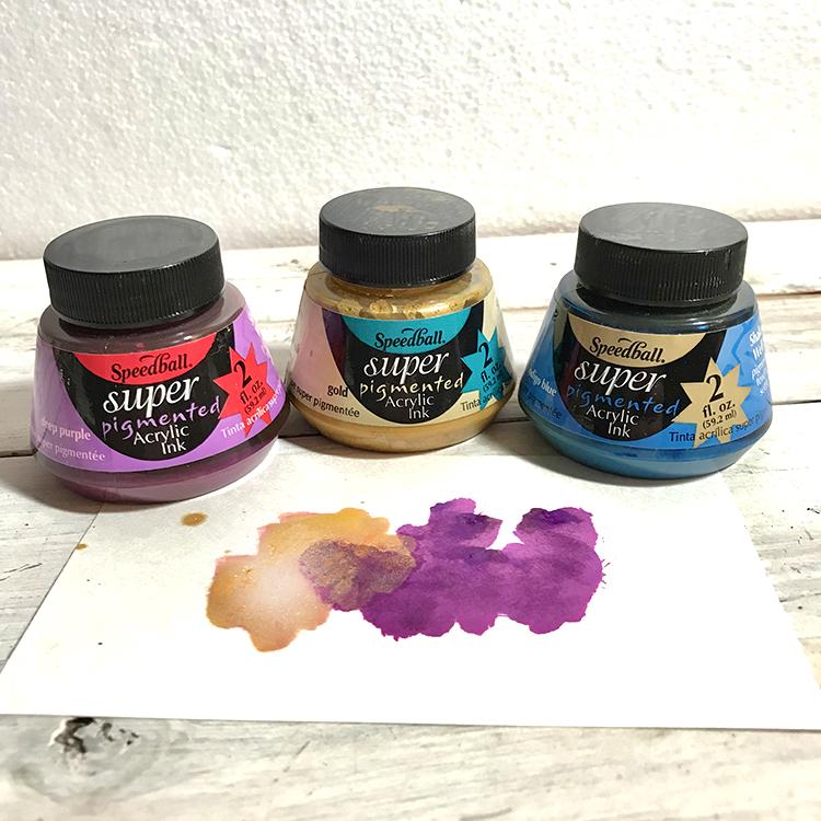 Acrylic Inks for Mixed Media