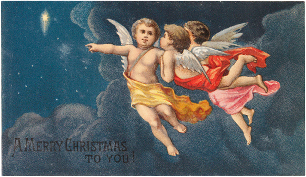 cherubs clouds star image