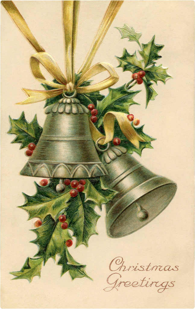 Silver Christmas Bells Image