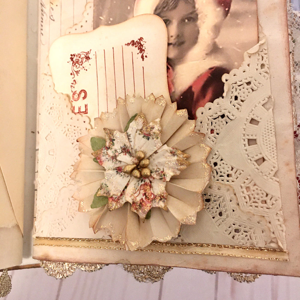 Christmas Junk Journal with Rosettes