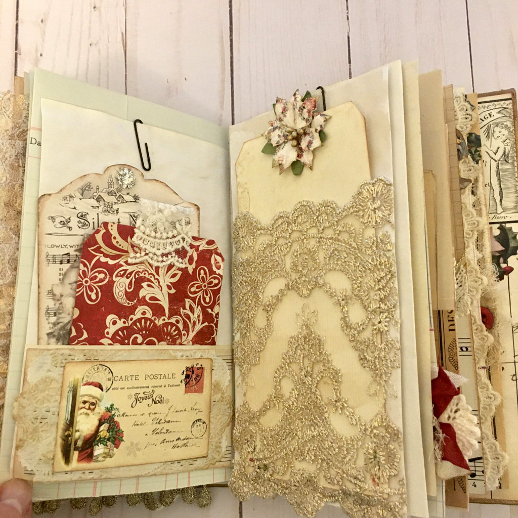 Holiday Junk Journal with Lace