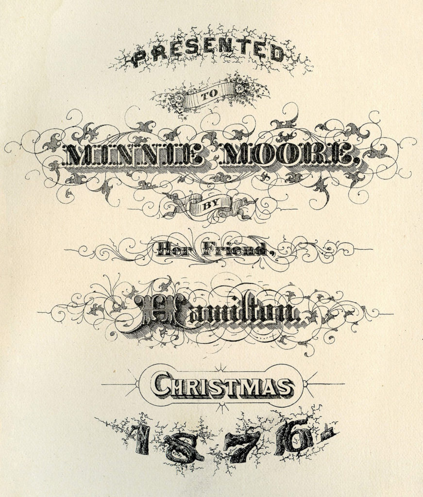 Christmas Pen Vintage Flourishing Illustration