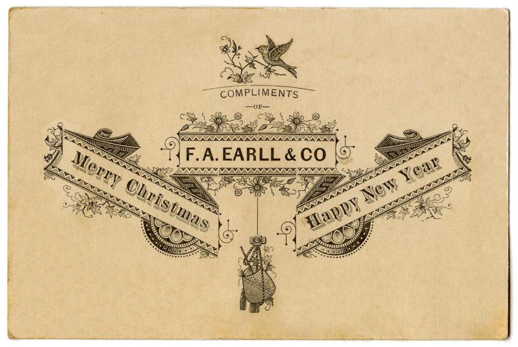 Christmas Typography Vintage Image