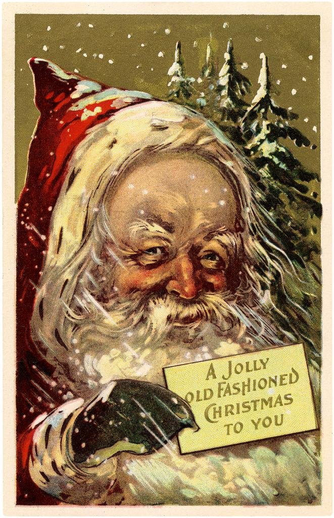santa christmas greeting illustration