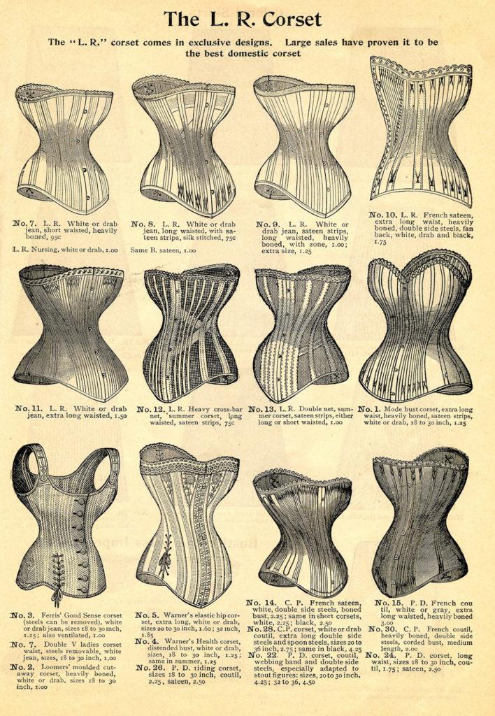 corset catalog vintage image