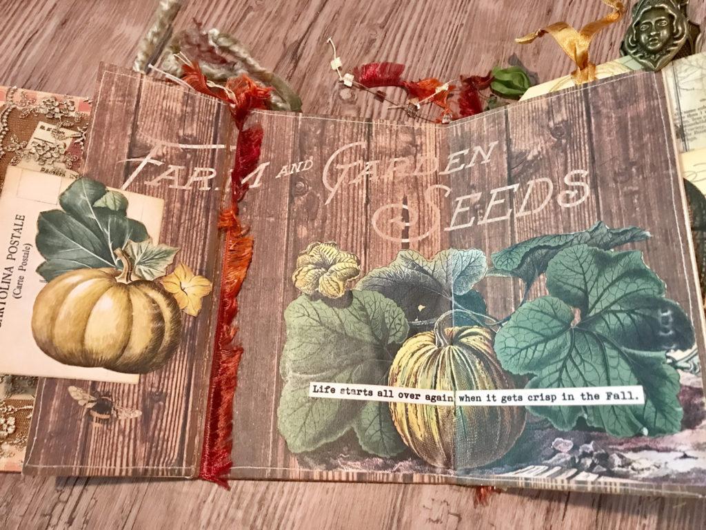 Junk Journal with Fall Pumpkins