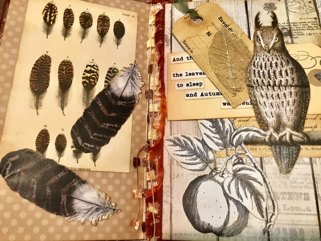 Feathers Junk Journal
