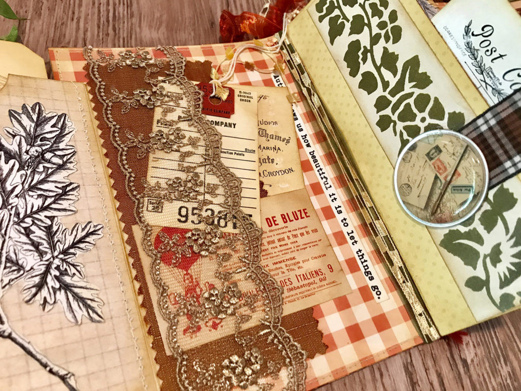 Fall Glue Book with Lace