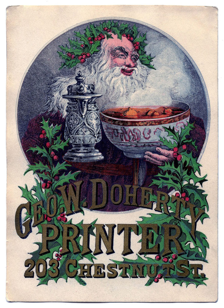 Father Christmas Advertising Vintage Image