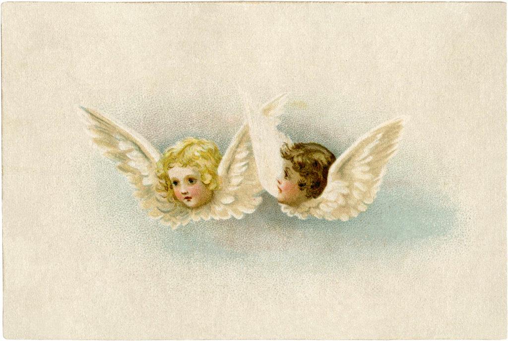 vintage angels clipart