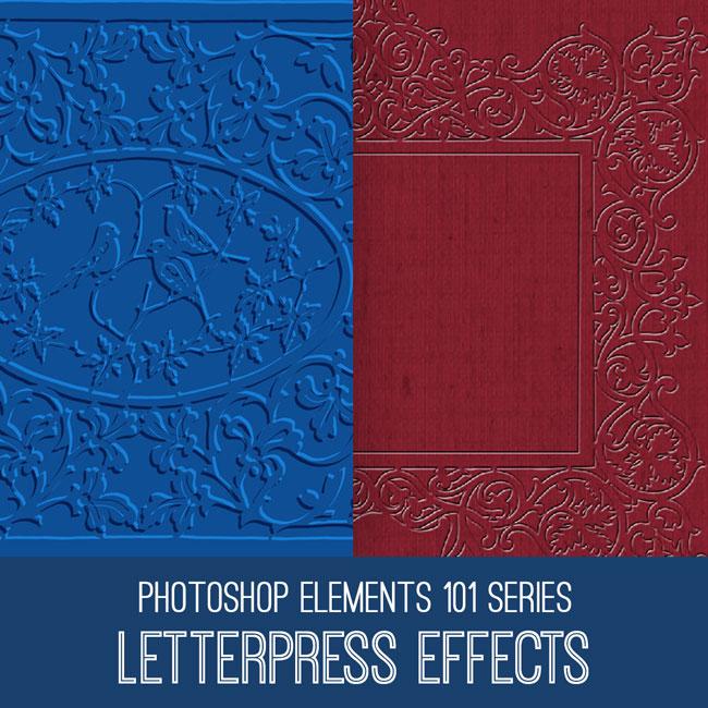 PSE Tutorial Letterpress Effects